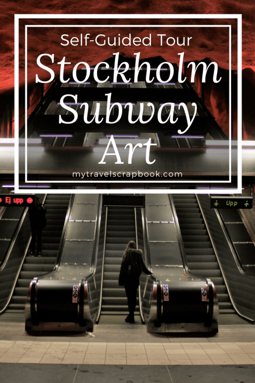 A self-guided Tour of the world's longest Art Museum! 9 must-see Subway stations in Stockholm #Subway #Stockholm #mytravelscrapbook.com