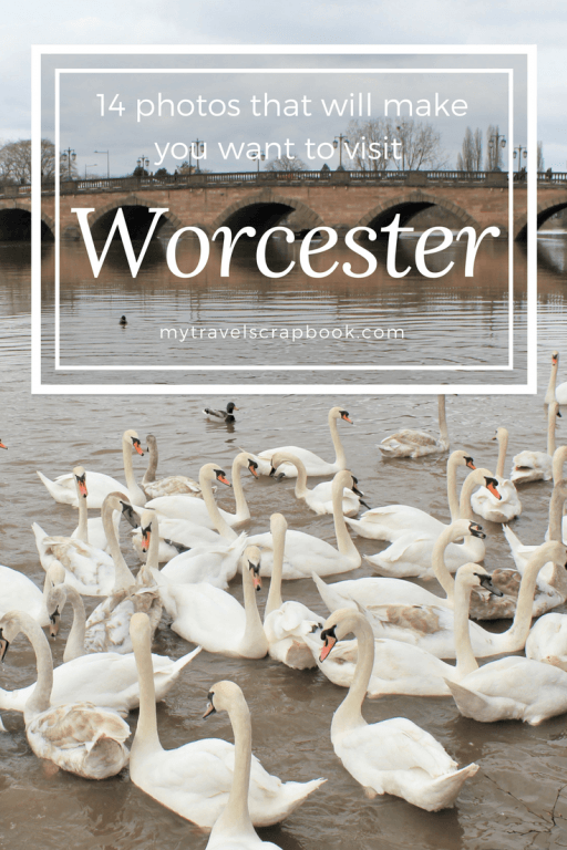 The city of Worcester is a very pretty place in the heart of England. Expect spectacular architecture, majestic swans, ancient ruins and much more! Click on this blog post to see the best photo spots in Worcester! #photography #worcester #mytravelscrapbook