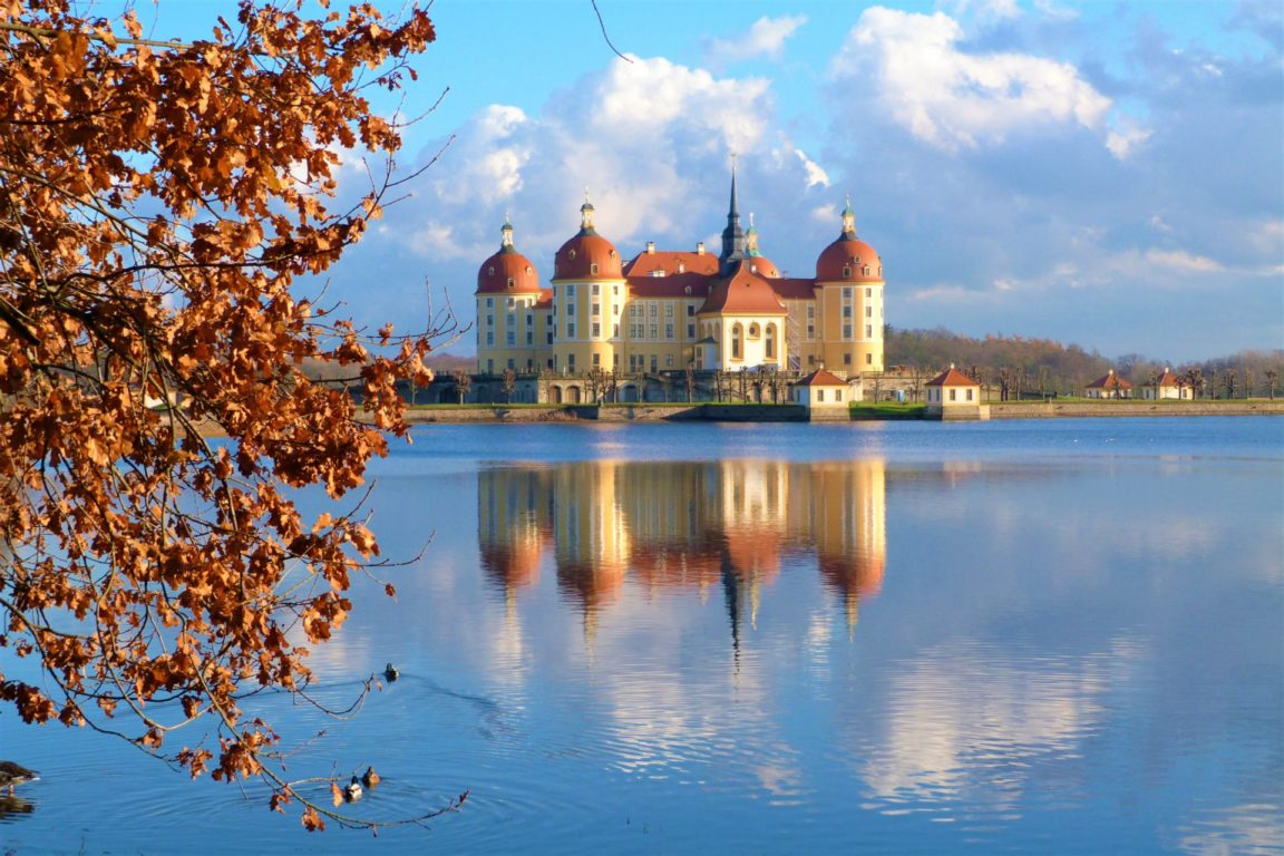Moritzburg Dresden Saxony Germany Lake Float Castle