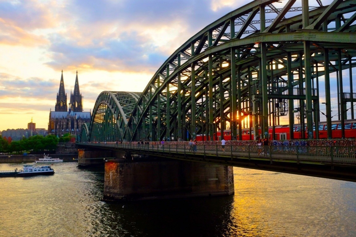 Hohenzollernbrücke Best Sunset Koln Cologne Germany