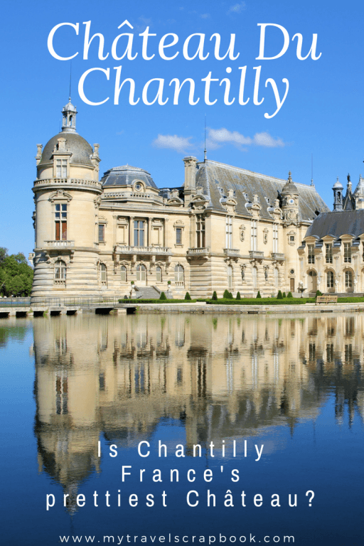 Is Château de Chantilly France\'s prettiest Château? Is Chantilly better than the palace of Versailles? Click here to find out what a beautiful castle Chantilly is! Expect romantic strolls on the island of love, a gorgeous library and a fantastic floating palace on a lake. Chantilly is a wonderful day trip from Paris and a great alternative to the palace of Versailles. #chantilly #daytrip #Château