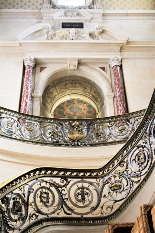 staircase Chantilly grand chateau, paris, france