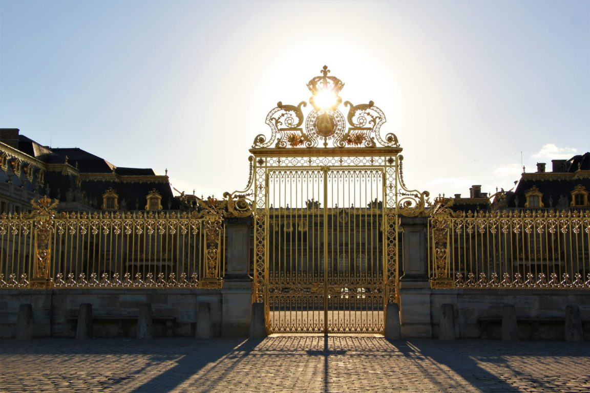 golden sunset gates Versailles