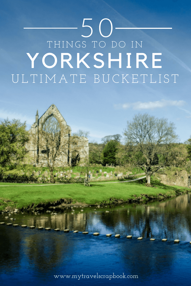 The Ultimate Yorkshire Bucket List! Yorkshire is one of the UK's most beautiful places but what can you do and see there? In this guide find out the 50 things to do and see in Yorkshire. #Yorkshire #UK