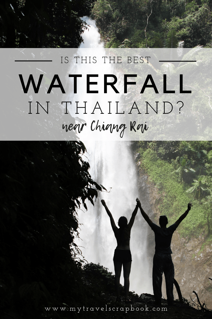 Is this the best waterfall in Northern Thailand? The Khun Korn Waterfall just outside of Chiang Rai can be reached by a short 1.4km hike through lush jungle. Visit in monsoon season to see its power or during the dry season for a dip underneath the 70m waterfall. Click here for the ultimate guide to hiking to the Khun Korn Waterfall. #chiangrai #khunkorn #waterfall