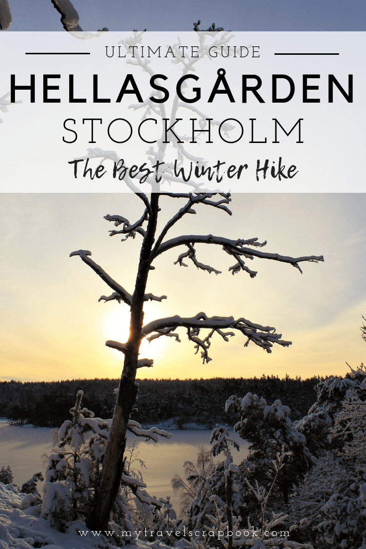 Hellasgarden is a beautiful hike to do within Stockholm. Read this to see how to get there and see gorgeous photos of Hellasgarden in winter #Hellasgarden #snow #Stockholm #mytravelscrapbook