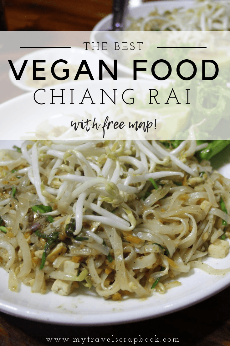 The Best Vegan Food in Chiang Rai - Find out where to eat delicious vegan sugar-free chocolate cake, where to enjoy the best vegan pad thai and where to see traditional dancing whilst you eat! Also, see which vegan places to avoid in this city in Northern Thailand! Free map included! #vegan #veganthailand #chiangrai