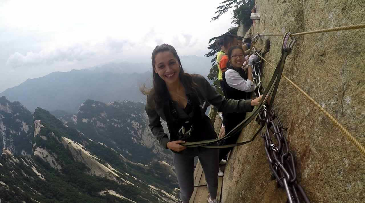 huashan skywalk scary
