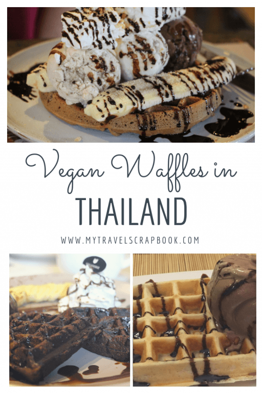 Where to find the best vegan waffles in Thailand! Thailand is a vegan\'s paradise for curries and pad thai but did you know that chef\'s across the Land of Smiles are also making fantastic vegan desserts? One dessert which has been heavily veganised is the waffle! Click on the post to see where you can try the best vegan waffles in Thailand Which waffle will you choose? #waffle #veganwaffle #vegan #vegantravel