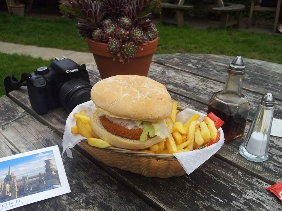 Plant-based Burger at The Gardener's Arms in Oxford