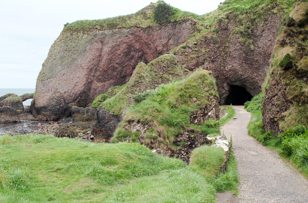 Cushendun Cave also known as the Baby Shadow Cave on the Northern Ireland Coastal Route