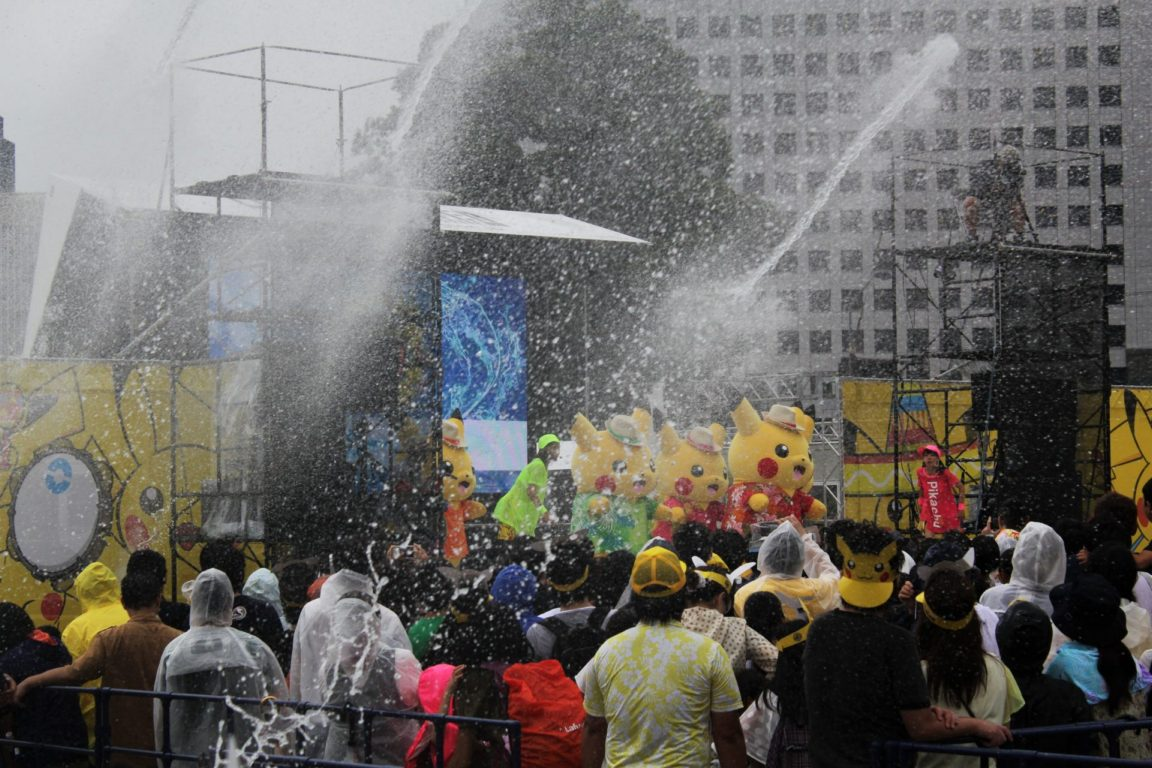 pikachu festival water fight