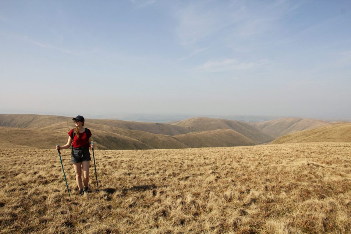 girl hiking howgills
