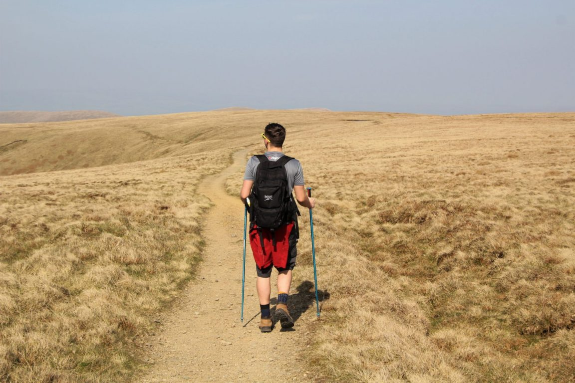 Hiking on Howgills Plateau