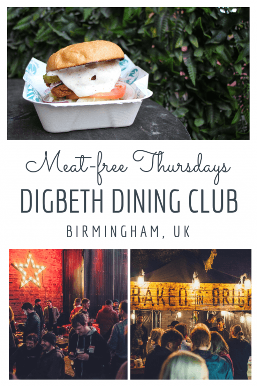 10 reasons you will love the Digbeth Dining Club in Birmingham as a vegan!  The No Bones weekly street food event at Digbeth Dining Club is veggie heaven. There is completely meat-free dining in the backyard from 4 pm – 10 pm every Thursday. Click on the pin to see some serious vegan food porn! #digbethdiningclub #birmingham #veganbirmingham
