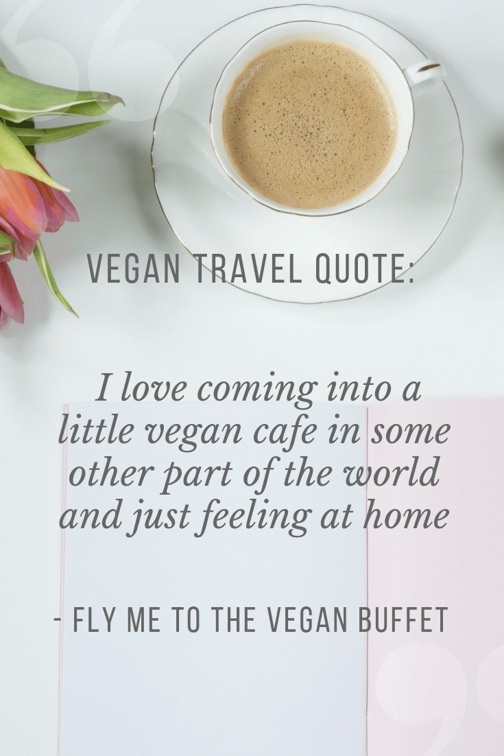 16 vegan travel quotes to inspire your next vegan trip! 