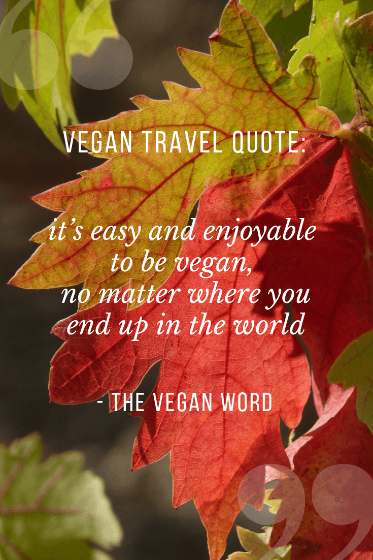 vegan word travel quote