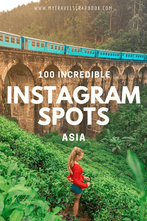 100 Incredible Instagram Spots in Asia! From Armenia to Japan here are 100 amazing photo spots to take instagrammable photos of across Asia. Pack your camera and get ready to up your instagram feeds and make all your friends jealous of your travel photos! #instagramasia #asia #travelphotography