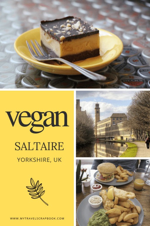 Vegan Guide to Saltaire in West Yorkshire. Saltaire is home to the world famous UNESCO site Salts Mill. Fewer know the wonderful vegan venues and delicious vegan food that can be found in Saltaire! Click to read all about the best vegan food in Saltaire #vegansaltaire #veganuk #saltaire