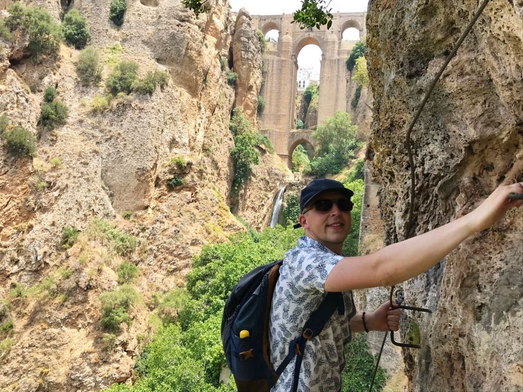 Ronda Via Ferrata Bridge View