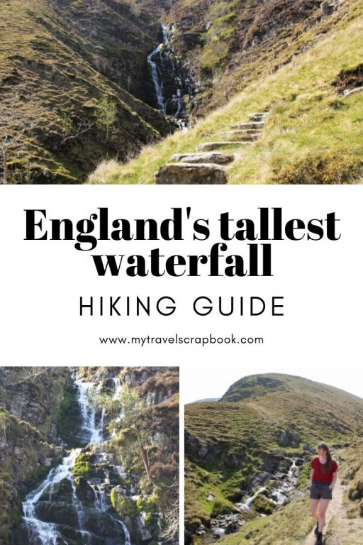 England's tallest waterfall is relatively unknown. Located in the Howgills between the Yorkshire Dales and the Lake District National park, Cautley Spout is a bit of a secret. Click on the post to read the ultimate hiking guide to walking up England\'s tallest waterfall. #waterfalluk #waterfallengland #hiking