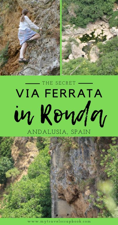 The Via Ferrata in Ronda in the Tajo Gorge is a fantastic secret hike away from the crowds by Ronda New Bridge. Check out this hiking guide to see how to find the secret via ferrata in Ronda. If you are an adventourous traveller who is looking for a more unusual thing to do in Andalusia, add the Ronda Via Ferrata to your Spanish Road Trip itenerary!! #ronda #rondahike