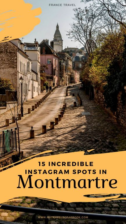 15 Instagram Spots in Montmartre, Paris. Click here to see where to take the best photo of the Sacre Cour and other hidden gems around the 18th arrondissement #Montmartre #Parisinstagram #instagram