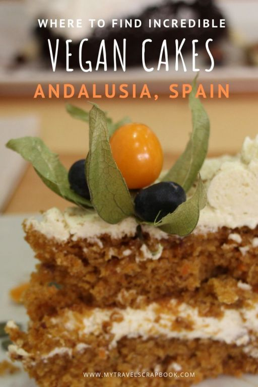 The best vegan cakes in Andalusia, Spain! Click on this post to see where you can find incredible vegan cakes in Seville, Cordoba and Malaga. From mouth-watering carrot cakes to delicious chocolate fudge cake there are many delicious vegan cakes in Spain just waiting to be discovered!