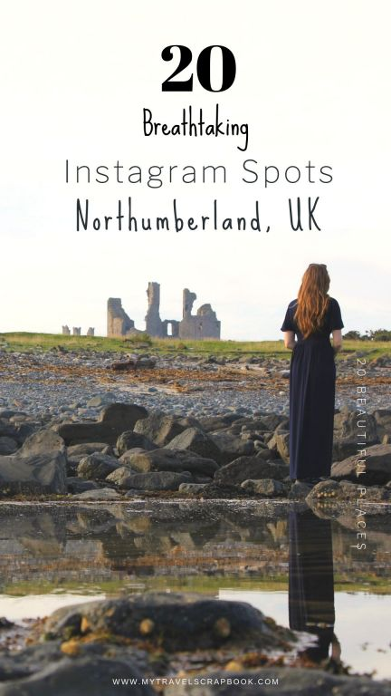 Best Instagram Spots in Northumberland! 20 breathtaking photography spots in Northumberland for you to fall in love with the gorgeous castles, landscapes and beaches. Pack your camera and head on a trip to Northumberland in Northern England. #northumberland #northumberlandphotography #travelphotography