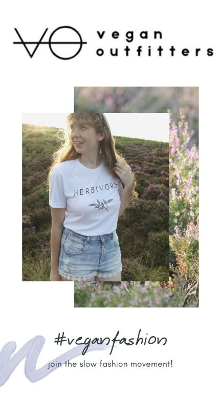 Want to tell the world you are vegan in a subtle way? This herbivore t-shirt is a great way to show your ethics whilst supporting a great vegan company. Use the code MYTRAVELSCRAPBOOK at the check out for 10% off your first purchase with Vegan Outfitters. #veganoutfitters #veganfashion #herbivore