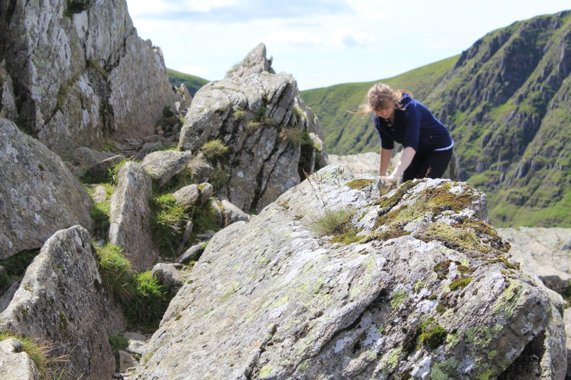 Striding Edge girl