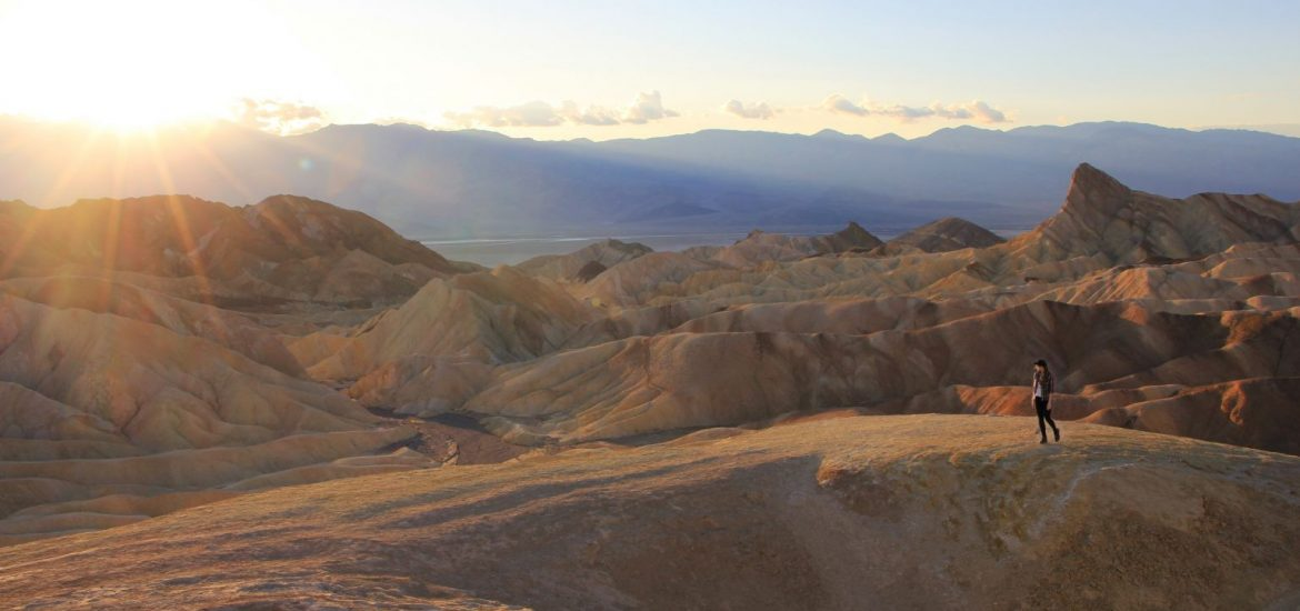 Zabriskie Point Death valley sunset guide