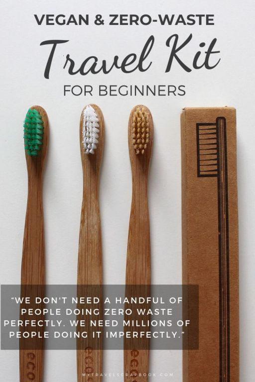 Vegan & zero-waste travel kit for beginners! Looking to start your zero-waste journey? Check out this post full of a few zero-waste items to get you started. Remember we do not need a few people doing zero-waste perfectly but millions doing zero-waste impefectly! Make a few zero-waste swaps today! #zero-waste #zerowaste #zerowastetravel