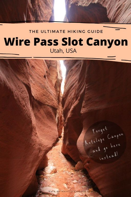 Wire Pass Slot Canyon is an epic day hike in Utah. Forget Antelope Canyon and come to this slot canyon instead! There are fewer crowds, Wire Pass is much cheaper oh and you can bring your dog! Click here to find out everything you need to know about the Wire Pass Slot Canyon Day Hike in Vermillion Cliffs National Monument. #wirepass #utah #utahhike