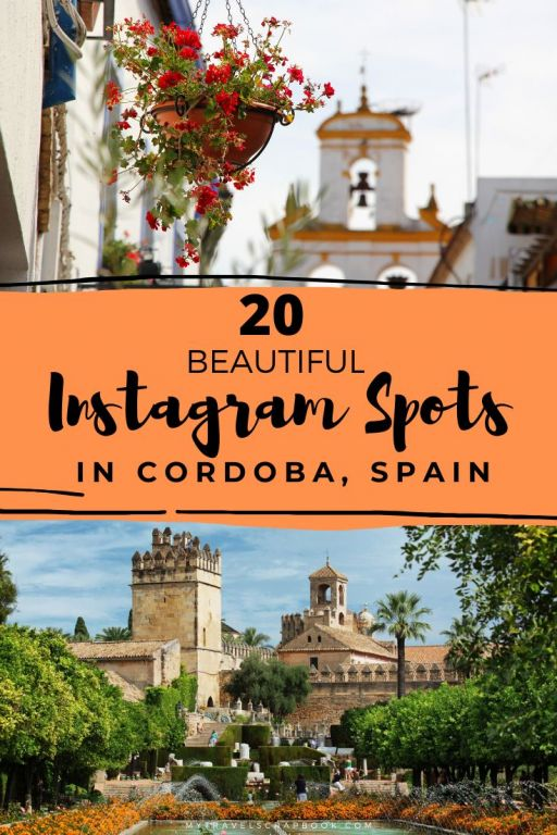 Incredible Instagram Spots in Cordoba, Spain! Cordoba is a beautiful city in Andalusia with many wonderful photography spots from the Roman Bridge, to Flower Alley and many more lesser known instagrammable spots. This is the ultimate guide to visiting Cordoba with a camera! #cordoba #instagrammable #spain