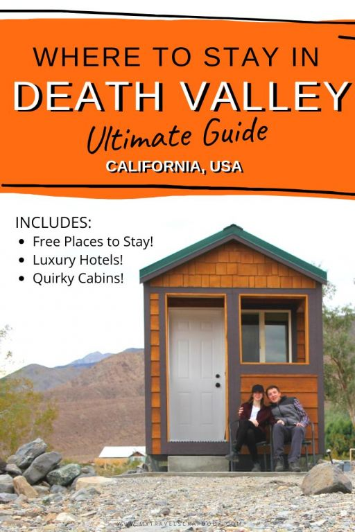 Places to stay in Death Valley national park! The ultimate accommodation guide!  Wondering about where to stay in Death Valley? Check out this list of different accommodation in Death Valley. From budget accommodation in the desert to a luxury stay at an oasis! When will you want to stay in this lovely national park? #deathvalley #deathvalleyaccommodation #california