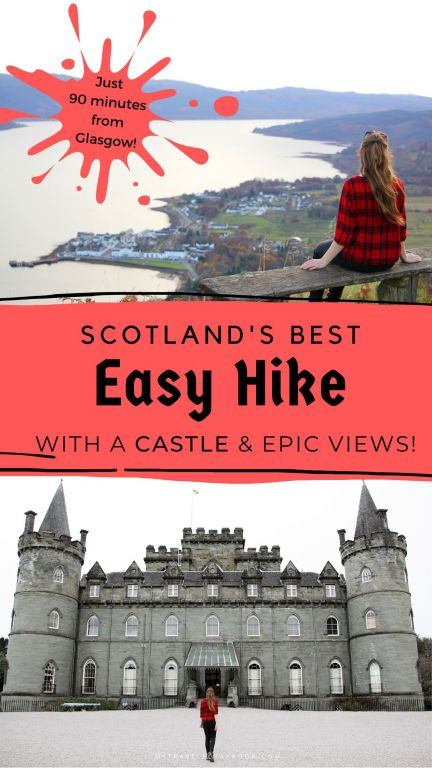 Scotland has a few amazing hikes! If you are looking for an easy hike in Scotland which is full of lush forests, amazing views, a castle and a loch consider hiking to Dun na Cuaiche. This is an easy hike in Inveraray and offers one of the best views in Argyll. Click here for the ultimate hiking guide why you should try this epic hike! #argyll #inveraray #hike