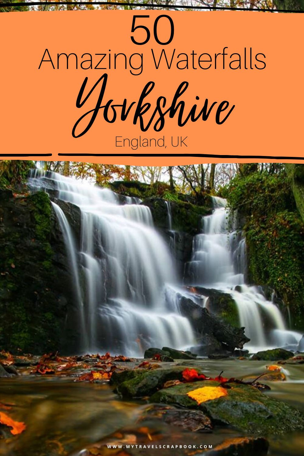 Beautiful waterfalls in Yorkshire! There are many wonderful Yorkshire waterfalls to discover on your next Yorkshire visit! From famous waterfalls such as Ingleton Falls in the Yorkshire Dales and Old Meggisson in the North Yorkshire Moors to lesser known ones such as Folly Dolly Falls in West Yorkshire! There are so many wonderful waterfalls in Yorkshire to see. #waterfalls #yorkshire #yorkshirewaterfalls