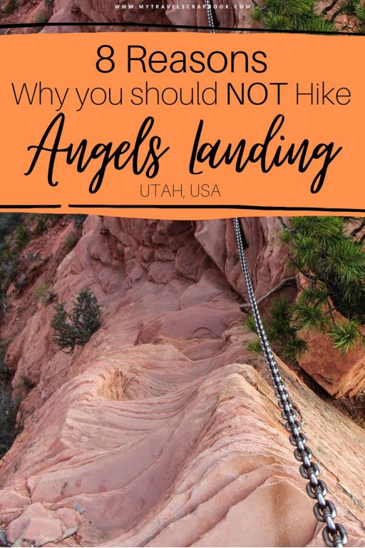 Angel\'s Landing in Zion national park is an iconic Zion hike! Yet its popularity and height can make this a dangerous hike. Before you consider hiking Angel\'s Landing you should check out these 8 reasons why you should NOT hike Angel\'s Landing in Zion! From death on Angel\'s Landing to alternative hikes in Zion to see Angels Landing from - here is why you should NOT hike Angel\'s Landing in Zion national park, Utah. #angelslanding #zion