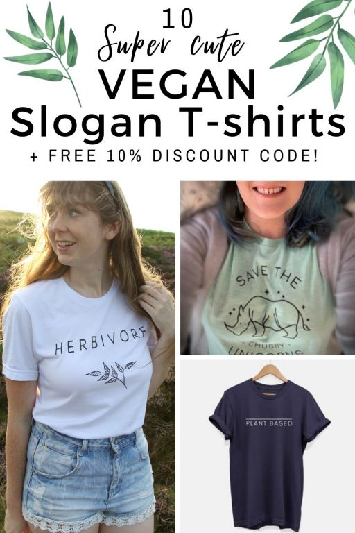 10 Affordable Cute Vegan Slogan Tees + 10% Discount Code! Click here to see cheap vegan t-shirts to add to your vegan fashion collection! These wonderful vegan slogan t-shirts are great for subtle activism to showing your vegan love to your friends! With so many cute vegan outfits, here are 10 of the best vegan slogan tees to choose from! #vegan #vegantshirt #veganoutfitters #veganfashion