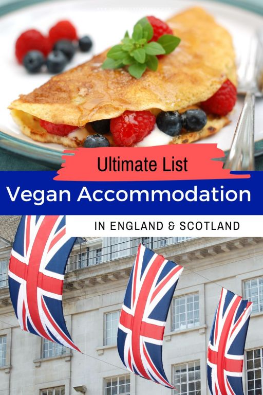 The ultimate list of vegan accommodation in the UK! From vegan hotels in Scotland to vegan B&Bs in Cornwall, there is plenty of choice in terms of vegan accommodation in the UK. Enjoy a delicious vegan breakfast and vegan toiletries without having to ask whether or not it is vegan! The UK is great for vegan travel as this list of vegan hotels in UK shows! Where will you want to go on your next vegan trip? Check out this list of epic vegan places to stay! #vegantravel #veganUK #veganaccommodation