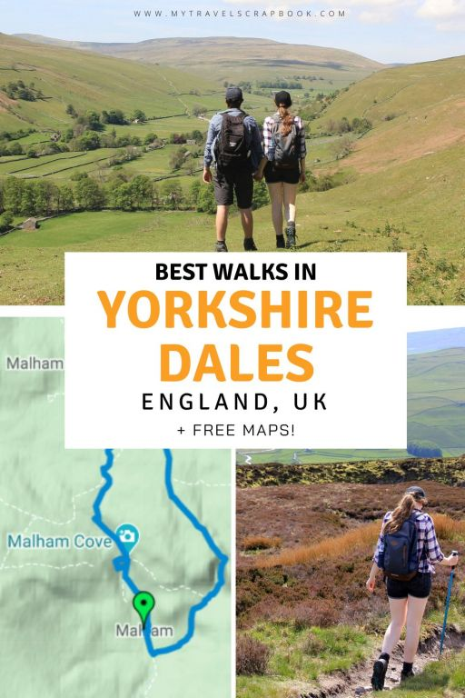 Amazing Yorkshire Dales walks - here is a list of 20 of the best walks in the Yorkshire Dales national park in England, UK. Whether you are looking for an easy walk in the Yorkshire Dales or fancy an epic day hike in the Yorkshire Dales you will find the perfect walk here! The Yorkshire Dales is a paradise for walkers with waterfall walks, wildflower meadow walks, fell hikes and the epic 3 peaks challenge! Pack your walking boots and let\'s visit the Yorkshire Dales! #yorkshiredales