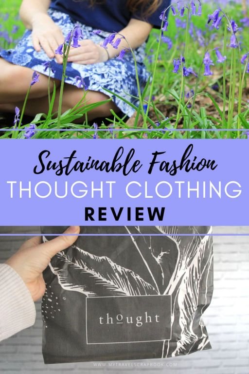 Affordable vegan skirt from Thought Clothing review! If you are looking for affordable sustainable fashion, Thought is a great choice. I saw these wonderful vegan rayon skirt on sale and decided to try this ethical clothing company. Click here to read my full review of the vegan skirt, the bamboo top, the plastic-free packaging and why Thought Clothing may have an affordable sustainable fashion item for you too. #ethicalfashion #veganfashion #sustainablefashion