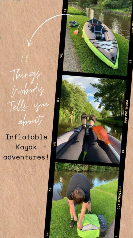 Thinking of getting an inflatable kayak? Before you do, check out this funny inflatable kayak adventure guide. Even if you have been in a normal kayak before, inflatable kayaks are a little different. Here are 12 things that no one tells you about inflatable kayak adventures! From spinning and wind to getting wet and having fun here are some things you may not know about inflatable kayaks. This is a guide to inflatable kayaks for beginners. #inflatablekayak #kayak
