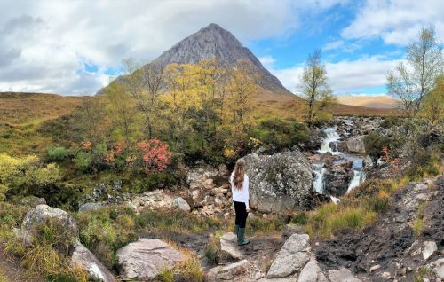 glen etive waterfall glencoe instagram